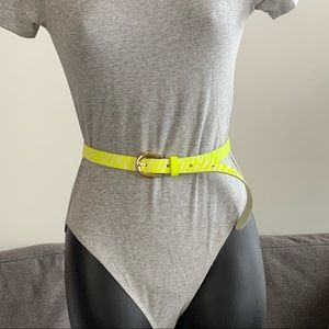 ✨2 for $10 Neon Genuine Leather Belt